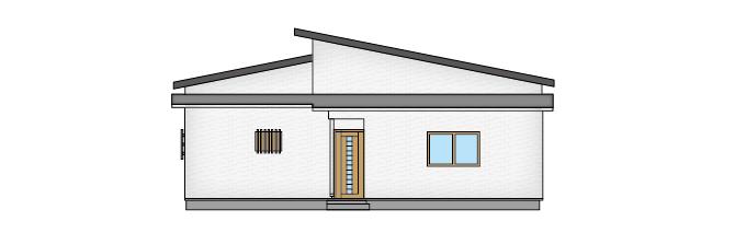 新築平屋立面図